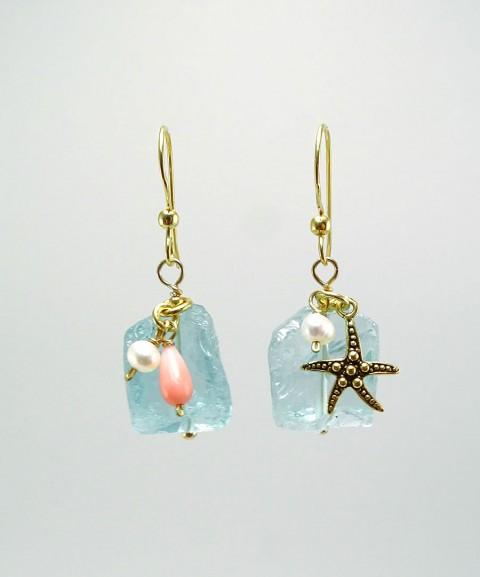Σκουλαρίκια με aqua crystal...
