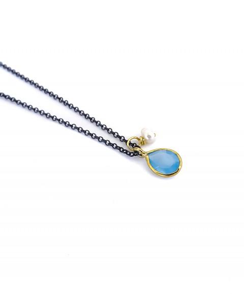 Light blue teardrop