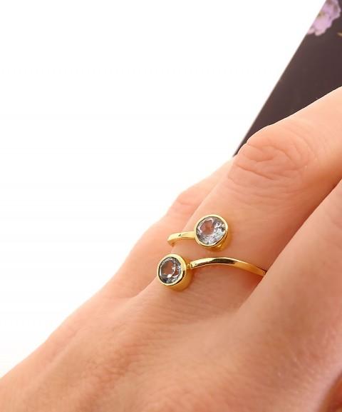 Δαχτυλίδι με βεραμάν πέτρες