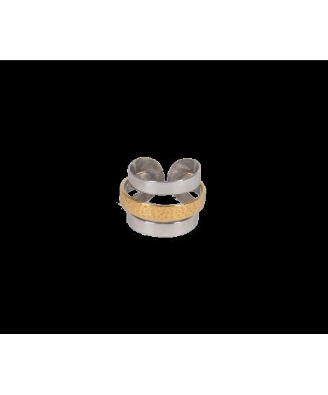 Δίχρωμο δαχτυλίδι απο ασήμι...